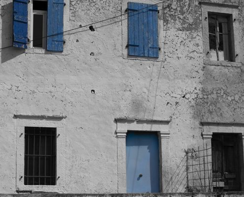 Albania Blue Doors